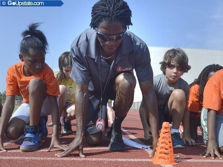 Former Olympian Johnson Trains Local Children To Improve Speed